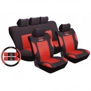 Üléshuzat univerzális szett 9db + 3db-os fekete-piros 1651BR