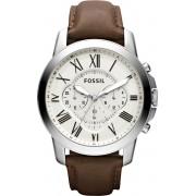 Fossil FS4735 - Horloge - Leer - Bruin - Ø 44 mm