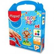 Детски боички за рисуване с пръсти Maped, 4 цвята, 223208