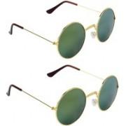 Rich Club Round Sunglasses(Green)