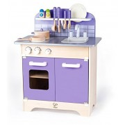 Hape Kitchen Play Set - Wooden Play Kitchen for Boys and Girls - Purple Playfully Delicious Gourmet Playset with 13 Deluxe Accessories - Great Gift for Toddlers and Kids Ages 3+