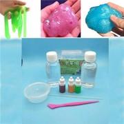 KKY DIY Make Magic Clay Slime Cotton Mud Crystal Mud Making Kit for Kids Game Toy