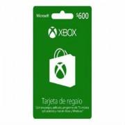 XBOX LIVE GC 600 MXN R15 . .