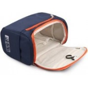 BASIC DEAL Hanging Fabric Travel Toiletry Bag Organizer and Dopp Kit Hanging Travel Toiletry Kit(Blue)