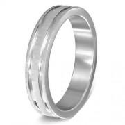 Ezüst színű nemesacél gyűrű, karikagyűrű ékszer