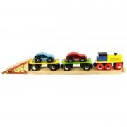 Trenulet cu platforma auto BigJigs