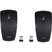 Oxza Sets Of 2 Ocean 2.4Ghz Foldable ARC Wireless Optical Gaming Mouse (USB Black)