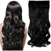 Wonder Choice 24 Inches Long 5 Clip In Curly Wavy Black Hair Extension