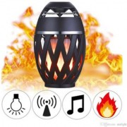 Flame Light Outdoor Lighting LED Music Torch Bluetooth 4.2 Wireless Speaker Power 5W (A Mid Summer Night Dream with Our