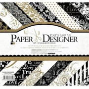 WAY BEYOND Art Craft Papers 18 Designs 3 DIE-Cut Sheets for Making Envelopes Scrap book Greeting Cards (40PCs 8x8)