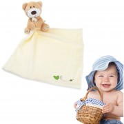 ER Nacido Soft Adorable Cartoon Baby Bear Toalla Chicas Chicos Bebés Tranquilizar Toalla - Blanco