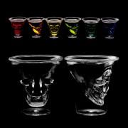 Pahare shot cu cranii pentru Halloween - 60 ml, Radar 60368, set 6 bucati