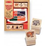 Set de stampile Pui de animale salbatice Melissa and Doug