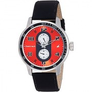 Fastrack Analog Red Dial Mens Watch-3159SL01