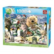 King Puzzle 1000 piese Animal world Arctic life