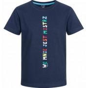 Endo T-shirt z krótkim rękawem dla chłopca, we mnie jest mistrz, ciemnogranatowy, 9-13 lat