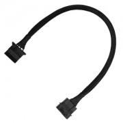 Cablu prelungitor Nanoxia 4-pini Molex, 30cm, Black