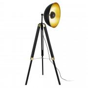 [lux.pro]® Állólámpa 'Ottawa', 148 cm, Fekete / Sárgaréz, Fém