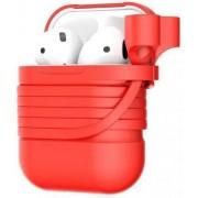 Apple Baseus Skyddsfodral i Silikon för Airpods med Magnetiskt Bälte - Röd