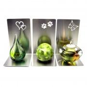 Urn van kristalglas met waxine: MultiColor (45ml) — Pootafdruk (+€115)
