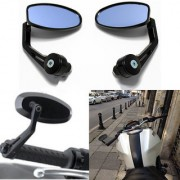 Handle Mirror Bar side OVEL for TVS Apache RTR Royal Bullet Enfield Electra Twinspark 350 Honda CB Hornet bike-01