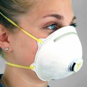 Szájmaszk gumipánttal, influenza ellen, FFP3 (biológiai szájmaszk), 3M