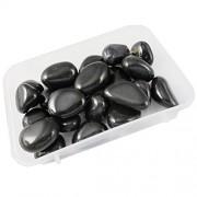 eshoppee 200 gm black onyx stone tumble 100% natural genuine original tumbled kit, crystal healing gemstones (black onyx)
