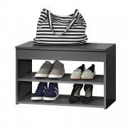 [en.casa] Шкаф за обувки - Тъмносив
