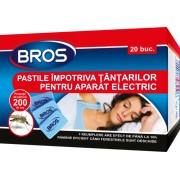 Rezerve BROS pentru aparat electric impotriva tantarilor, 20 pastile