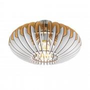 EGLO 96961 | Sotos Eglo plafonjere lampa 1x E27 niklovan mat, braon, belo