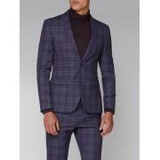Ben Sherman Purple Check Skinny Fit Suit Jacket 46R Purple