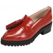 Clarks Women's Anniston Vale Brown Leather Pumps - 6 UK/India (39.5 EU)