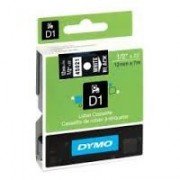 Dymo D1 Label Cassette 12mmx7m (SD45021) - White on Black