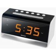SDC 4400 Ébresztőóra USB töltővel LED-es éjszakai fénnyel