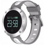 Bratara Fitness iUni DM58 Plus, Bluetooth, Display OLED, Notificari, Pedometru, Monitorizare puls, Waterproof (Alb/Gri)