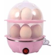 LISBON Double Layer 14 Eggs Large Capacity Multifunction Egg Boilers ®Double Layer 14 Eggs Large Capacity Multifunction Egg Boilers Steamed Egg Custard Cooking Electric Egg Cooker Boiler with Stainless Steel Bowl Egg Cooker (Multicolor, 14 Eggs) Double La
