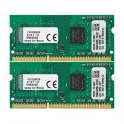 Kingston KVR13S9S8K2/8 RAM 8Go 1333MHz DDR3 Non-ECC CL9 SODIMM Kit (2x4Go) 204-Pin, 1.5V