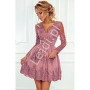 Wrzosowa koronkowa sukienka wieczorowa - Amelia
