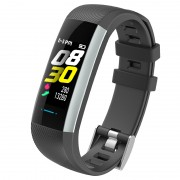 M2MAX 0.96-inch Color Screen Waterproof Fitness Tracker Bracelet Smart Wrist Watch Band - Black