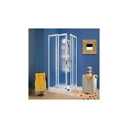 Box doccia VELA ANGOLARE rivestito pvc/cristallo satinato