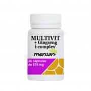 Mensan Multivitaminas + ginseng i-complex - 30 cápsulas vegetales - vitaminas y minerales