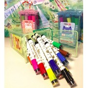 Homies International 1 unit color seal watercolor pen children toddler painting pen 24 color pen portable graffiti pen painting pen set in trolley box
