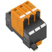 DC túlfeszültség levezető szolár napelemes (PV) rendszerekhez ( cserélhető betétes ) 3 pólus, C (T2) fokozatú, távjelzővel, VPU PV II 3 R 1500 solar (WEIDMÜLLER 2530650000)