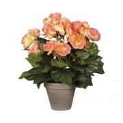 Floare artificiala, begonie, roz somon