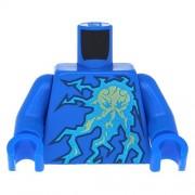 LEGO Ninjago - Blue Torso Lightning Energy Pattern (NRG Jay) / Blue Arms / Blue Hands - x10 Loose