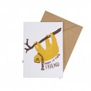 Dille&Kamille Carte avec enveloppe, paresseux