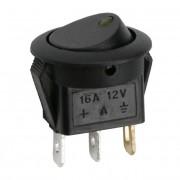 Kapcsoló billenő LED-es 2 állású 12V 16A 09042SA sárga
