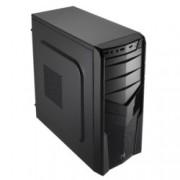 Кутия AeroCool V2X, ATX/Micro-ATX/Mini-ITX, USB 3.0, 1x 92mm вентилатор, черна, без захранване