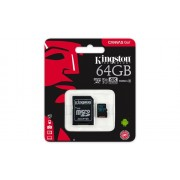 Memorija micro SDXC 64GB Kingston Canvas Go, SDCG2/64GB, U3 UHS-I + SD adapter