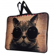 13,3 Pulgadas Gafas De Sol Usando Cat Patron Portátil Bolsa De Nylon Bolsa De Aire De Macbook / Pro, Lenovo Y Otros Laptops Apple Macbook Air, Mac Book Cover, Mac Book Bag, Laptop Apple Cover, Tablet Pc Bolsa, Tablet, Tablet Pouch, Notebook Cover, Co